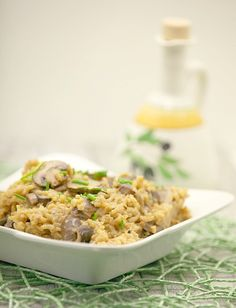 Healthy, Low Calorie Oven Baked Mushroom Risotto (Lowfat) www.fooddonelight.com