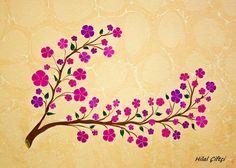 Ebru; Yabanî Kiraz Ağacı Çiçekleri