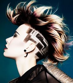 Undercut clipper designs for people of all hair types! Swirls, concentric stars, and even a Louis Vuitton style hair design. But be careful where you get these done.. they take a real artistic eye...