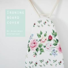 We are talking about ironing board covers on DIY Decorator today Kylie has a great tutorial from #apartmentapothecary to make your own cover