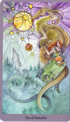 Stephanie Pui Mun-Law Dragons | Today's card from the Shadowscapes Tarot, by Stephanie Pui-Mun Law and ...