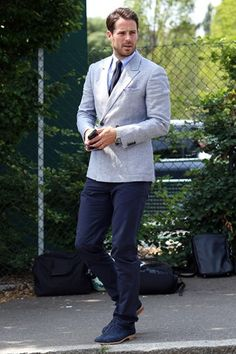Most Stylish Men Of The Premier League - Jamie Redknapp - The Sky Sports regular has a penchant for well-cut tailoring that shames his fellow pundits - you can't imagine Mark Lawrenson in bespoke Thom Sweeney.