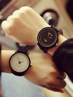 Tacka Watches - Couple Faux Leather Strap Watch #watch #strapwatch #couple #couplewatch #fauxleatherwatch