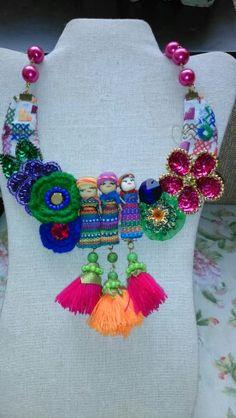 Collar cultura mexicana diseñado por Deseos Divinos #Guadalajara,jal. 333 508 55 58