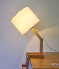 Купить Настольная лампа из фанеры - светильник ручной работы, светильник из дерева, фанера 10 мм