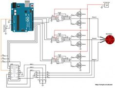 Sensorless brushless dc motor control using Arduino. The speed of the BLDC motor is controlled with a potentiometer connected to Arduino. Arduino Motor, Arduino Cnc, Arduino Programming, Arduino Uno Microcontroller, Arduino Circuit, Brushless Motor Controller, Voltage Divider, Simple Arduino Projects, Circuit Board Design
