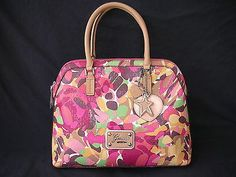 Guess Vy404607 Airun Group Multi Color Satchel Msrp 118