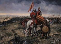 King Pedro II of Aragon in the battle of Las Navas de Tolosa by Augusto Ferrer-Dalmau. Historical Art, Historical Pictures, Military Art, Military History, Important People In History, Art Of Fighting, Early Middle Ages, 11th Century, Fantasy Weapons