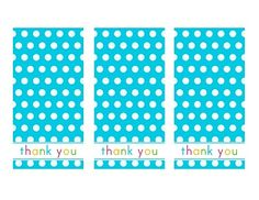 cute thank you tags for treat bags, etc.