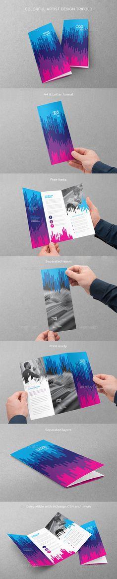 Colorful Artist Design Trifold Template #design Download: http://graphicriver.net/item/colorful-artist-design-trifold/12189914?ref=ksioks