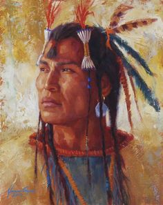2012 Commanding Gaze, James Ayers Native American Paintings, Native American Pictures, Native American Artists, Native American Indians, Native American Warrior, American Spirit, Indian Artwork, Indian Paintings, Native Indian