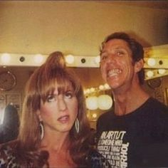 Jennifer Aniston shows a throwback photo of her with celebrity hairstylist Chris McMillan Wind Machine, Celebrity Hair Stylist, Girl Standing, Jennifer Aniston, Stylists, Hair Makeup, Hair Cuts, Happy Birthday, Photo And Video