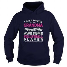 Proud Grandma of An Awesome Volleyball Player T-shirt Cool Gift For Everything