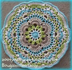 Crochet Doily  Good pattern to use for a rug! Description from pinterest.com. I searched for this on bing.com/images