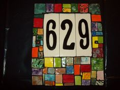 Your place to buy and sell all things handmade House Numerology, Ceramic House Numbers, Ceramic Houses, Handmade Ceramic, Handmade Gifts, Tile, Ceramics, Unique Jewelry, Colorful
