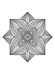 Hidden heart mandala to print and color available in JPG ...