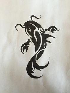 Tribal Koi Fish Dragonkoifishtattoodesigns Koi Tattoo Koi Fish Tattoo Koi Fish Drawing