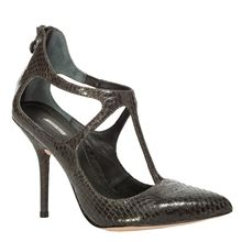 TUCKER - GENUINE SNAKESKIN HEELS