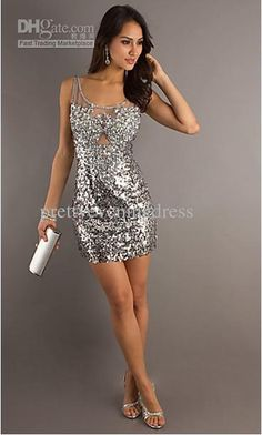 sexy white sequin dress, perfect for holiday parties and new years ...