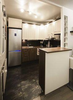 moderni keittiö, ruskea