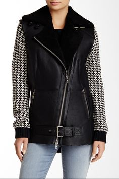 Yvorne Genuine Shearling Leather Biker Vest by Muubaa on @nordstrom_rack