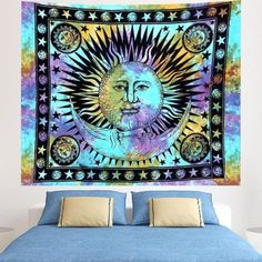 Indian Tie Dye Gypsy Bohemian Psychedelic Hippie Wall Hanging, Celestial Sun Moon Wall Decoration Queen Size Meditation Tapestry  f you know someone who loves astrology, then why not consider getting them the perfect astrological gifts.  Unique gifts for astrology lovers are trendy right now because it is more of a personalized gift.  You can buy a gift based on zodiac sign and personality.  Here you will find great gift ideas for Pisces, Capricorn, Aries, Scorpio, Taurus, Virgo, Libra…