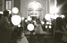 LED light up balloons for the big wedding exit