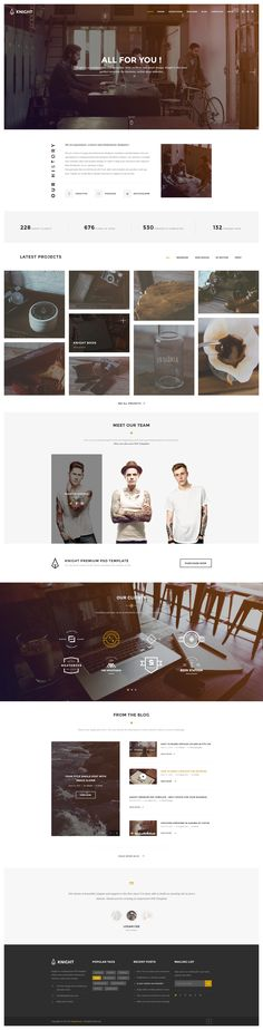 Knight - Corporate and Shop PSD Template - PSD Templates | ThemeForest