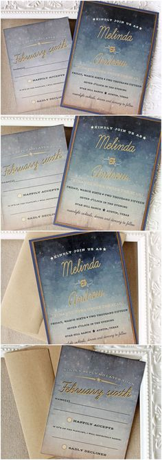 Starry Night Wedding Invitation Set | Sunshine and Ravioli