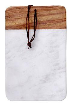 Skärbräda / wood & marble cutting board // Ellos Home Dexter, Marble Cutting Board, Arrow Necklace, Hair Accessories, Home Decor, Kitchen, Wood Ideas, Decor Ideas, Shoppa