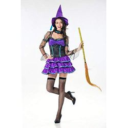 78fac4d57b8b Olydmsky Costumi da Donna di HalloweenHalloween Costume Adulto Femmina  Strega Strega Gonna
