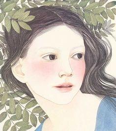 """Snow White"" (Detail of illustration in book of same name) by Nancy Ekholm Burkert."