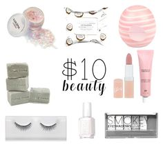 """""""Budget Beauty"""" by melly-bourne ❤ liked on Polyvore featuring beauty, Rimmel, Boohoo, River Island, Sephora Collection, Essie and 10dollarbeauty"""