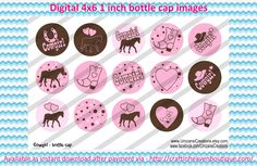 country & cowgirl Bottle cap images #country #cowgirl #bottlecap #BCI #shrinkydinkimages #bowcenters #hairbows #bowmaking #ironon #printables #printyourself #digitaltransfer #doityourself #transfer #ribbongraphics #ribbon #shirtprint #tshirt #digitalart #diy #digital #graphicdesign please purchase via link  http://craftinheavenboutique.com/index.php?main_page=index&cPath=323_533_42_118