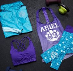 Dive into your workout! // Disney The Little Mermaid Ariel Girls Active Wear