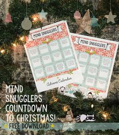 Free Printable Mind Snugglers Countdown To Christmas Activity Page