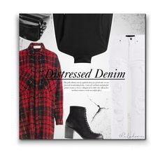 """""""A Stressful Situation"""" by sherieme ❤ liked on Polyvore featuring Alexander Wang, Faith Connexion, Diane Von Furstenberg, McQ by Alexander McQueen, BCBGMAXAZRIA, plaid, cardigan and distressedjeans"""