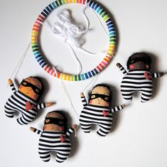 Love Bandit Baby Mobile   Made to Order  Customize colors
