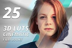 25 3d Luts - Cinematic Film Looks by WeLovePresets on @creativemarket