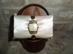 Vintage 1950's Mens Elgin Gold Tone Wind Up Dress Watch For Sale Online by Antiquescove, $140.00