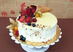 Tort cu Glazura Alba de Ciocolata Sweets Recipes, Desserts, Cake Kids, Birthday Cake, Food, Pies, Tailgate Desserts, Deserts, Birthday Cakes