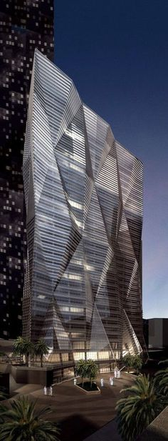Muqarnas Tower, King Abdullah Financial District KAFD, Parcel 1.09 designed by Skidmore, Owings & Merrill (SOM) Architects