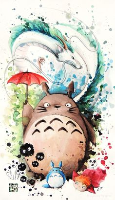 """Tribute to Ghibli : The crossover"" by Louise Terrier on Society6"