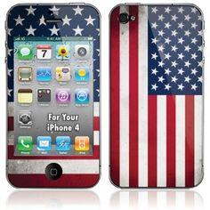 American Flag iPhone Skin and Case.  AMERICA!
