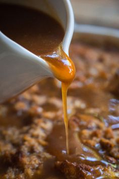 Fireball whiskey caramel sauce pin 2 recipes to try pinterest banana pecan bread pudding with fireball whiskey caramel sauce forumfinder Images