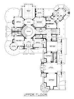 Farmhouse Plan: 10,275 Square Feet, 5 Bedrooms, 7.5 Bathrooms - 341-00302 Acadian House Plans, Dream House Plans, House Floor Plans, Luxury Floor Plans, Luxury House Plans, 10 Bedroom House, Three Story House, Homestead House, Coastal House Plans