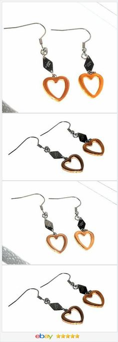 """18 K Rose Gold and Steel Heart Dangle Earrings     eBay  50% OFF <a class=""""pintag"""" href=""""/explore/EBAY/"""" title=""""#EBAY explore Pinterest"""">#EBAY</a> <a href=""""http://stores.ebay.com/JEWELRY-AND-GIFTS-BY-ALICE-AND-ANN"""" rel=""""nofollow"""" target=""""_blank"""">stores.ebay.com/...</a>"""