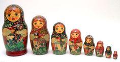 13-Russian Matryoshka-wooden doll