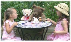 tea ,having a tea party !!