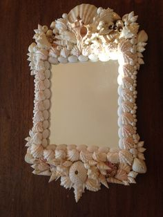A seashell mirror I made a long time ago.